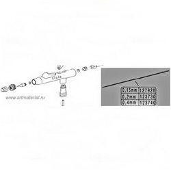 Аэрограф H&S Evolution-Silverline М (сопло 0.4мм, б.5 мл и стекл.15 мл)