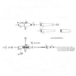 Аэрограф H&S Infinity CR PLUS (сопло 0,2 мм, бачок 2мл)