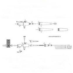 Колпачок иглы № 1-0,25мм для Paashce V, VV, VJR