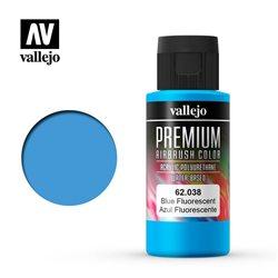 Синий флуор.Краска акрил-уретановая Vallejo Premium