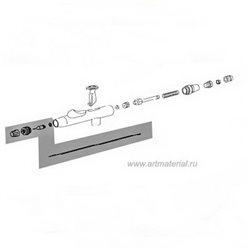 Комплект расп. (игла, колпачок, сопло, возд. сопло) 0.2мм (nickel) для Hansa 481/581/681
