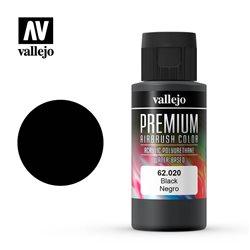 Черная. Краска акрил-уретановая Vallejo Premium/ черный