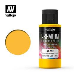 Золотистая флуор.Краска акрил-уретановая Vallejo Premium