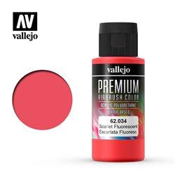 Алая флуор.Краска акрил-уретановая Vallejo Premium