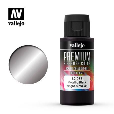 Металлик черный.Краска акрил-уретановая Vallejo Premium