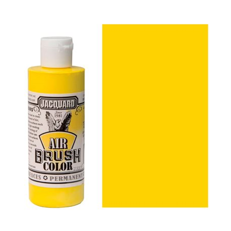 Краска Jacquard Airbrush Color желтый покрывной 118мл