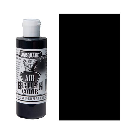 Краска Jacquard Airbrush Color черный покрывной 118мл